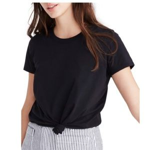 NWT Madewell black knot front short sleeve shirt